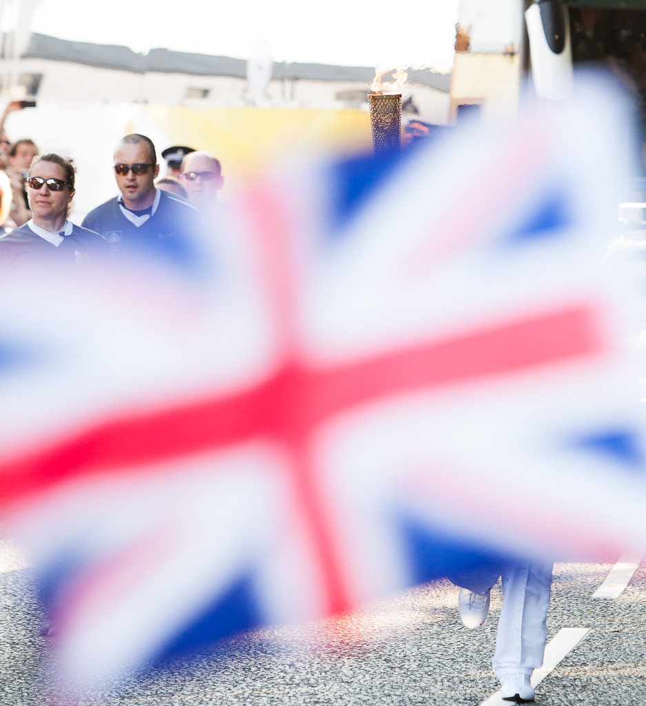 United Kingdom Flag and Olympic Torch